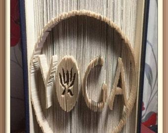 Yoga. Book Folding Pattern