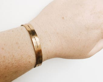 The Arrow Cuff, Hand Stamped Bracelet