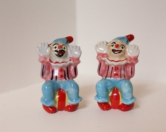 Clown Salt and Pepper Shakers