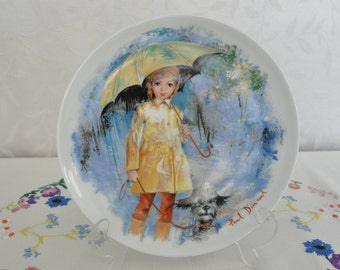 Limoges plate Christiane et Fifi by Paul Durand 1980 Decorative plate wall plate