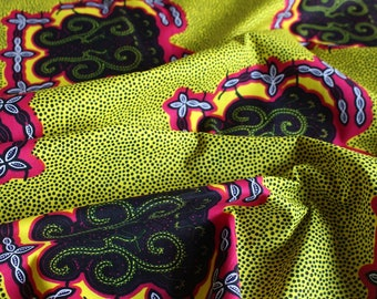 Bright african fabric - Ankara African Print - African Fabric - Wax Print Fabric  - African Print - Fabric per yard