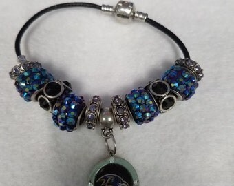 Baltimore Ravens beaded bracelets