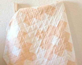 Modern Quilt, Aztec Quilt, Baby Girl Quilt, Girl Bedding, Nursery Bedding, Baby Blanket, Baby Shower Gift, Toddler Bedding