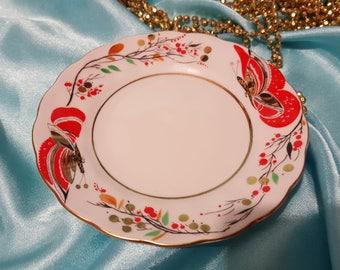 Lomonosov  plate butterfly 15 см Russian Porcelain.