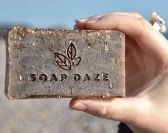 Unwrapped Handmade Coffee/Raw Cacao Soap, natural soap, large soap, vegan soap, coffee soap