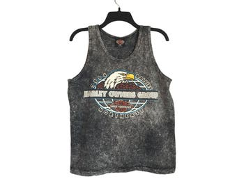 Vintage '94 Harley-Davidson Northeast Rally Lincoln, New Hampshire Stone Acid Washed/Stonewashed Tank Top Small/Medium FREE SHIPPING!