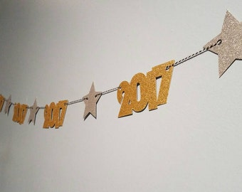 New years eve decorations, 2017 party decor, new years banner, new years eve decor, graduation banner,