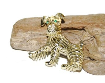 Scotty Dog Brooch, Dog Pin, Dog Jewelry, Dog Lover, Scottish Terrier, Scottish Dog, Large Brooch, 60s Brooch, Dog Items, Dog Accessories
