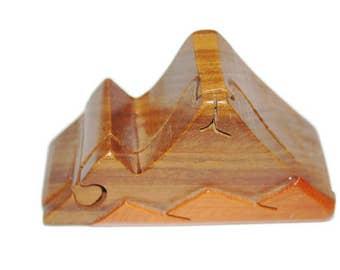 Vintage Puzzle Box, Wooden Puzzle, Mountain Puzzle, Unique Gift Idea, Mid Century Puzzle Box, Modern Wood Art, Stash Box, Hidden Compartment