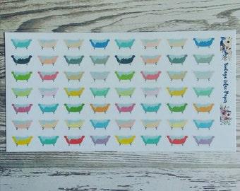 56 Mulit Color Bubble Bath Planner Stickers