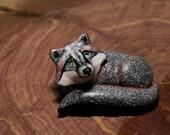 Gray Fox Totem, Fox Sculpture, Fox Figurine, Miniature Sculpture, Forest Animals, Woodland Animals, Woodland Creatures, Animal Totem