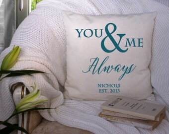 You and Me Always Wedding 18x18 pillow cover