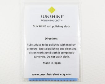 Sunshine Polishing Cloth for Silver, Copper and Gold Jewelry, Metal Polishing Cleaning Cloth