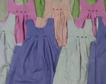 Girls Apron/Pinafore, Prairie Dress