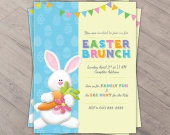 Easter Flyer - Easter Invite - Easter Bunny - Easter Brunch Invitation - Easter Egg Hunt Invite, Flyer Invite, Easter Brunch Flyer, Digital