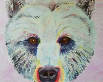Grizzley Bear 12x16 Acrylic Painting