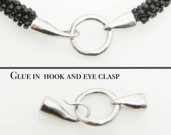 Glue in hook and eye Clasp in, ideal for Kumihimo!