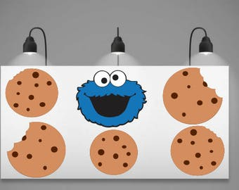 Cookie Monster SVG; Cookie Monster Banner; Cookie Monster and cookie Banner SVG