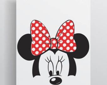 Minnie Mouse Svg; Disney Svg; Cricut Cut file; Silhouette cut file; cameo cut file; Minnie Mouse