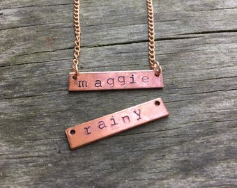 Custom Name Necklace: up to 6 letters