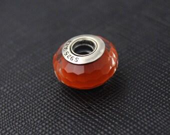 New Authentic Pandora Charm Bead Fascinating Orange 791626