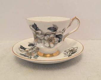 Vintage Windsor Bone China Tea Cup & Saucer