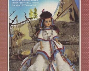 Indian Princess, Fibre Craft Crochet Native American Doll Clothes Pattern Booklet FCM238