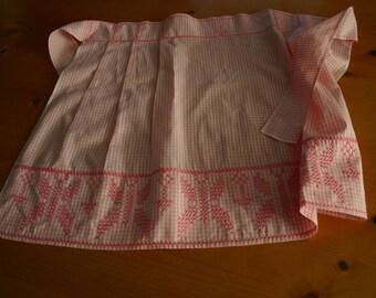 Beautiful Pink Gingham Chicken Scratch Apron