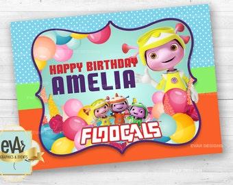 Floogals Birthday Banner/ Floogals Party Supplies/ Floogals Custom Banner/ Floogals