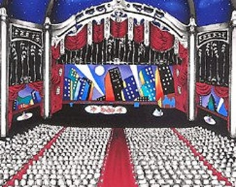 Linnea Pergola Limited Edition Serigraph on Paper DRESS REHEARSAL Signed in Pencil by Artist