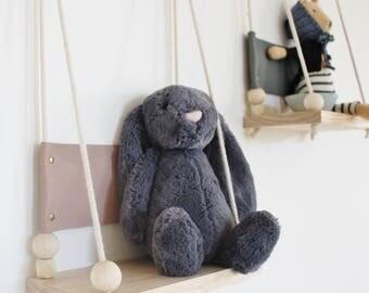 Audrey Leather Swing Shelf