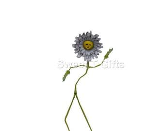 flower art, set of 3, funny flowers, dancing flower art, flower prints, flower printables, fantasy art, digital downloads, wall decor