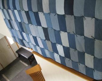 Handmade Queen Denim Jean Quilt Blanket