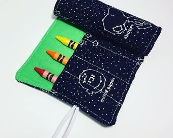 Crayon roll-up