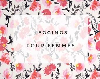 Leggings for women, ultra comfortable * watercolor flowers
