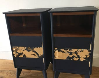 Now sold!A pair of mid century bedside cabinets