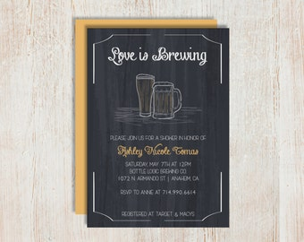 Bridal Shower Invites - Brewing Beer