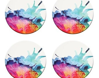A pack of 4 watercolour splash art design Pattern weights Ideal for weighing down patterns on delicate fabrics no need for pins