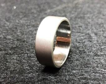 Stonewashed Titanium Ring