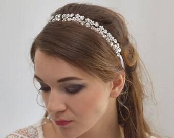 Wedding Tiara, Bridal Crystal Hair Vine, Silver Hair Vine, Brial Hair Vine, Wedding Headpiece, Wedding Crown, Bridal Headpiece
