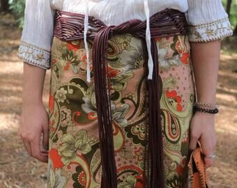 Vintage 70s Macrame Belt