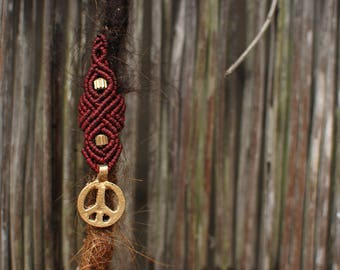 Macrame Dread Bead, Choose colour, Choose Feature Bead, Hand made to order
