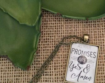 All Your Promises Are Yes & Amen Necklace/ Song Lyric Jewelry
