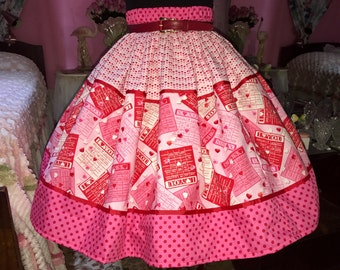 ON SALE LOVE Valentine's skirt with polka dots