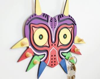The legend of Zelda inspired Majora's mask plaque/key holder