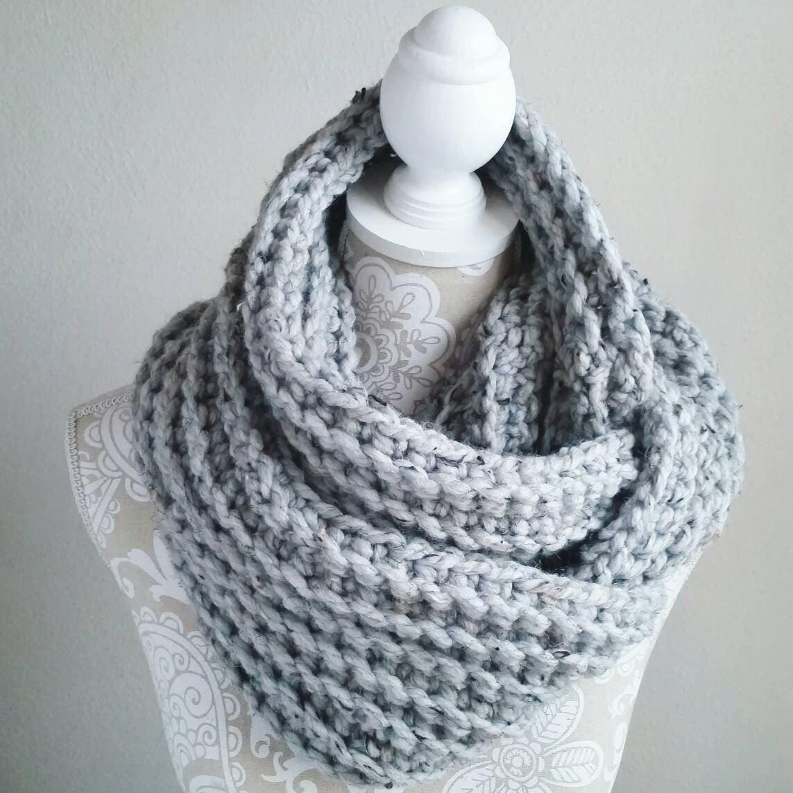 Crochet Infinity Scarf PATTERN, Crochet pattern, DIY crochet scarf, Beginner ...