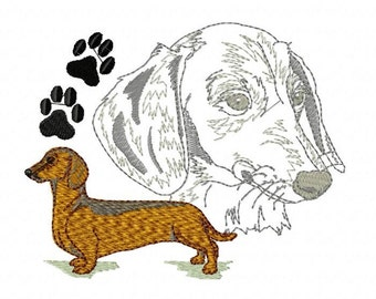 DACHSHUND PORTRAIT - Machine Embroidery Design