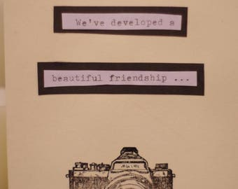 Friendship Card, We're Developing a beautiful friendship