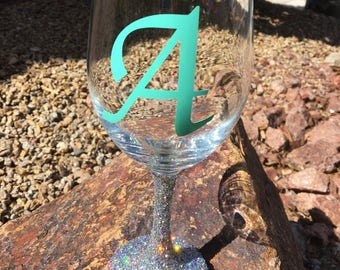 Big bling wine glass-wine glass-wedding-bachelorette-gift