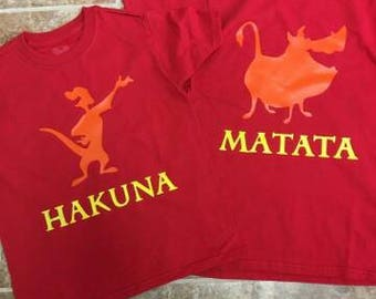Lion King, Hakuna Matata,  Timon, Pumba, Shirt, Disney Shirt, Vacation shirt, Family Shirt